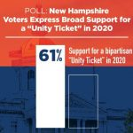 Most NH voters would back 'unity ticket' in 2020: poll